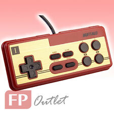 BUFFALO Retro-style Classic Nintendo NES 8 Button USB PC Gamepad Red BGCFC801RDA