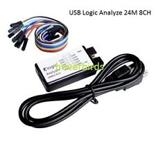 USB Logic Analyzer Device Set Cable 24MHz 8CH for ARM FPGA M100