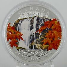 Canada 2014 $20 Autumn Falls - 1 oz. Pure Silver Proof Coin with Color