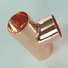 New End feed equal Tee 8mm, plumbing, water, copper, Uk seller
