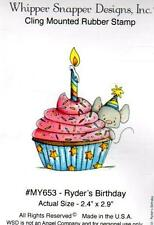 NEW WHIPPER SNAPPER cling Rubber Stamp ryder's BIRTHDAY free usa ship