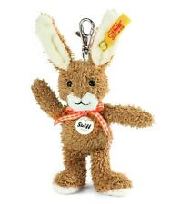STEIFF Rabbit Keyring Handbag charm Brown 12cm EAN 112270 NEW