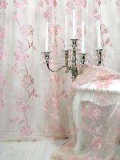 Gardine, 1 Fertig-Gardine *Romantic Rose* hochw. Voile mit aufgestickten Rosen