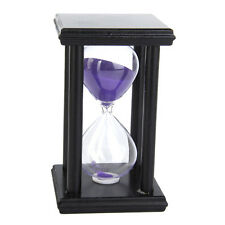 30 Min Wooden Sand Clock Sandglass Hourglass Timer for Gift/Decor Purple