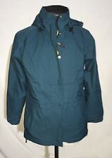VTG REI GORE-TEX HOODED PARKA RAIN HIKING JACKET WOMENS S SMALL TEAL EUC