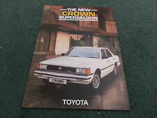 January 1982 TOYOTA CROWN 2800 SUPER SALOON - UK 10 PAGE COLOUR BROCHURE