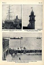 Italienisch-Türkischer Krieg Bilder und Karten deutsche Flagge Schutz vor...1911