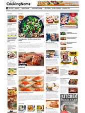 COOKING & RECIPES FOOD website for sale Affiliate and Mobile Responsive design