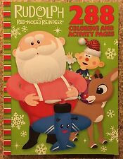 Rudolph The Red-Nosed Reindeer 288 Coloring & Activity Pages Book New Clarice