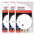3 x KIDDE LIFESAVER Smoke Detectors Fire Alarm Ionisation Batteries Included