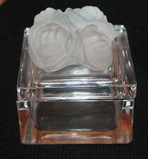magnifique coffret a bijoux a décor de roses lancel