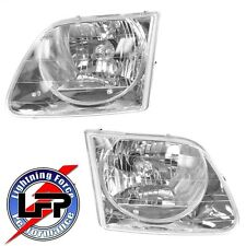 2002-2003 Ford F-150 SVT Harley Davidson Headlights Headlamps Set Left and Right