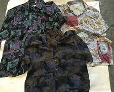 VINTAGE CRAZY ZANY FRESH PRINCE PATTERNED SHIRTS MOD WHOLESALE URBAN LOT X 25