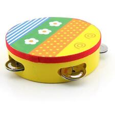 Baby Kids Bell Drum Tambourine Colorful Musical Toy Cartoon Handbell Clap