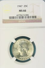 1947 NGC MS66 Washington Quarter!! #FW1