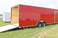 8.5x28 Enclosed Trailer Cargo Car Hauler 8 V-Nose Construction 30 Box 2016 CALL