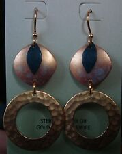 Jody Coyote Earrings JC0835 new gold plated earwire blue dangle Made USA