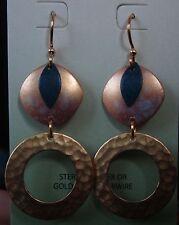 Jody Coyote Earrings JC0835 new gold plated earwire blue dangle Made USA
