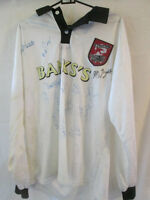 Walsall 1997-1998 Match Worn squad Signed Home Football Shirt /11588