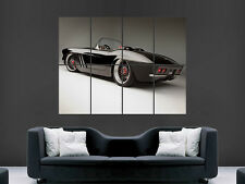 CHEVROLET CORVETTE C1 1962 CONVERTABLE  CLASSIC CAR ART LARGE WALL POSTER PRINT