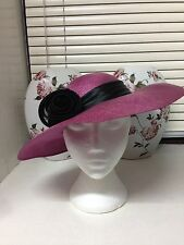 Wedding hat,Pink and black,Mother of the bride,Races,Wedding,Chic Ascot hat
