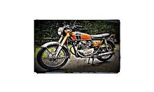 1972 cb350 k4 Bike Motorcycle A4 Retro Metal Sign Aluminium