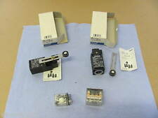 4-tlg. OMRON Posten - 2x D4D-1121N Safety Switch & je 1x LY4-1 / LY2N Relais