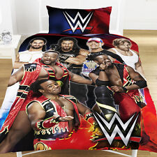 NEW WRESTLING WWE SUPER 7 SINGLE DUVET COVER BEDDING SET BOYS BEDROOM XMAS GIFT