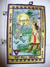 OA O Shot Caw Lodge 265,1997 Fal Ordeal,Camp Seminole Indian,pp,South Florida,FL