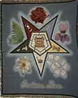 New `EASTERN STAR` OES Tapestry Throw Blanket 48