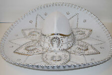 "Authentic Mexican Mariachi-Sombrero Customer Return True Adult 23"" White/Silver"