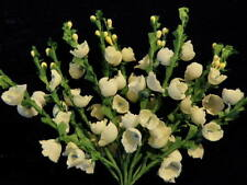 Millinery Flower White White Heather 12 stem Bunch for Hat Wedding + Hair NQ2a
