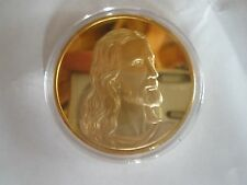 1 OZ 24KT GOLD PLATED JESUS/LAST SUPPER COIN/CHRISTMAS PRESENT