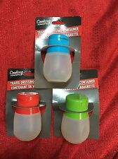 Silicone Squeezable Portable Salad Dressing Container - Dressing On The Go
