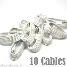 10X LOT NEW HQ USB Data Sync Cable Cord Charger for iPhone 7/6/5 SUPPORT iOS 10+