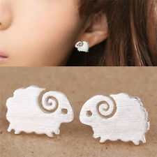One Pair Fashion Silver Plated Sheep Earrings For Women Ears Stud Fine Jewelry