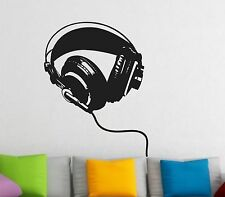 HEADPHONES Wall Decal Sticker mural Music ear phones headphones teen room Wall