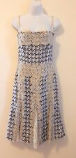 * DOLCE & GABBANA *Couture* Tweed Lace Bustier Dress- Sz 40/XS