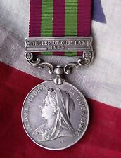 British Army original India General Service Medal Relief of Chitral 1895 Native