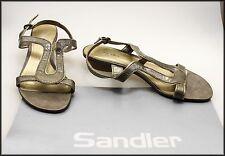 SANDLER WOMEN'S LOW HEELS SLINGBACK OPEN-TOE FASHION SANDALS SHOES SIZE 8.5 B