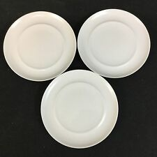 "Crate and Barrel Nova Spal Porcelain THREE 6 7/8"" White Bread & Butter Plates"