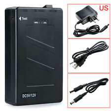 DC 12V 2In1 Portable Rechargeable 8000Mah Li-ion Battery Pack US Adapter New