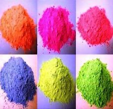 6 X 250g PACKS -FLUORESCENT  COLOUR  POWDER PAINTS