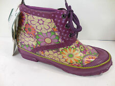 Kids Girls Sz 4 Bogs Rt Foot Rubber Rain Boot Replacement Amputee Purple Floral