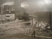 Vtg Press Photo 1963  Marion IL Downtown business fire Street Scene History Orgl