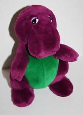 "Vtg Original Dakin BARNEY THE DINOSAUR 10"" Backyard Gang 90's Plush Purple Lyons"