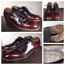 "VTG Nettleton Whole Cut  Oxford sz 8.5 D ""Ox Blood"" Made in USA"
