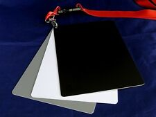 "3-in-1 18% Gray White Black Card Set White Balance / EV Grey Color 5"" x 7"""