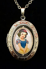 Snow White Disney Silver Children's Locket and Necklace