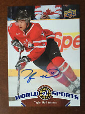 2010 Upper Deck World of Sports Multi-Sport Card Taylor Hall Autograph Rare Auto